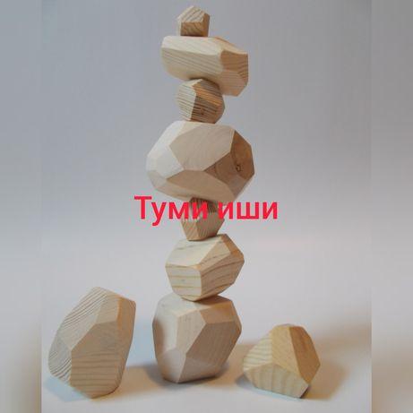 Туми Иши игра настольная гора камней набор камни с дерева балансир
