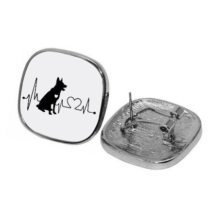 Kolczyki biżuteria pies owczarek buldożek pomeranian labrador