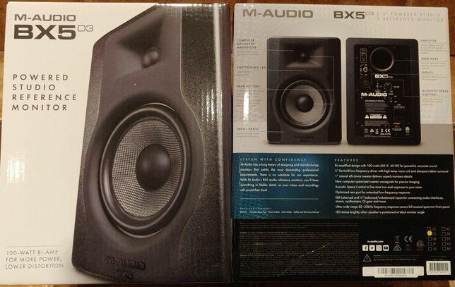 M-Audio BX5 D3 aktywne monitory studyjne para 2-pak nowe gwarancja