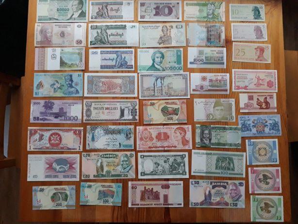 132 banknoty z ponad 70 krajów - likwidacja kolekcji