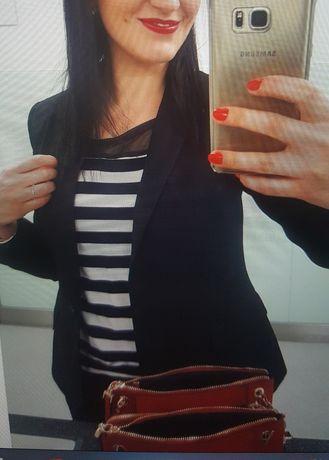 Bluzka w paski 36 marynarska siateczka marynarski wzór