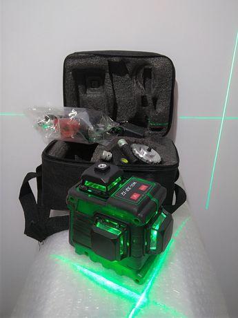 3d лазерный уровень.Яркие зелёные лучи.С