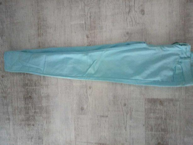 Błękitne spodnie rurki xs 34
