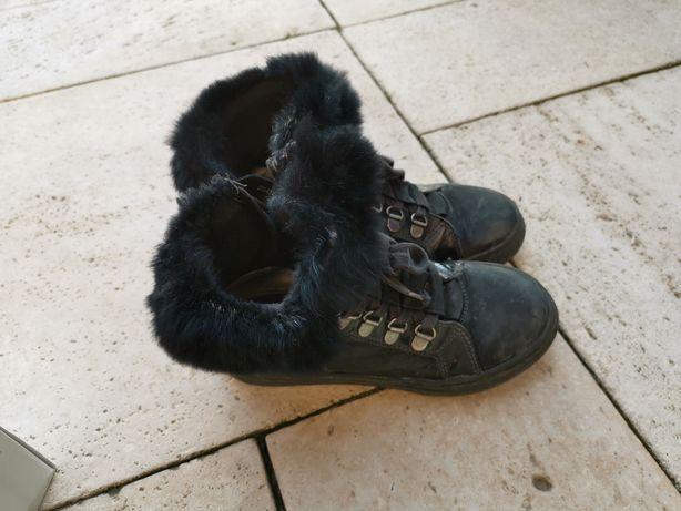Buty zimowe ze skóry Lasocki r 32
