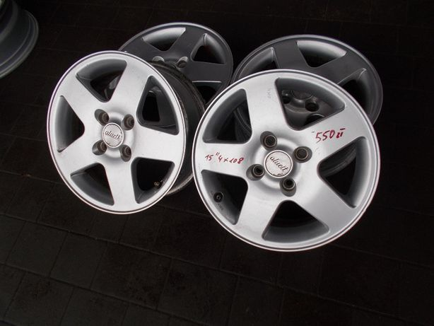"Aluett 15"" 4x108 Ford Focus Fiesta Escort"