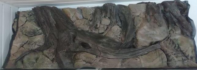 Tło strukturalne do akwarium KORZEŃ, wysoka jakość 150x60 cm