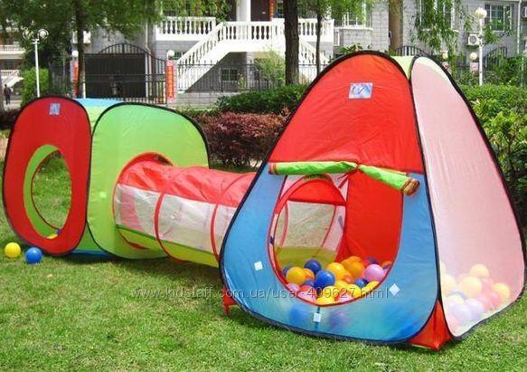 Дитячий ігровий намет-тунель Детская игровая палатка 2 в 1 палатка дит