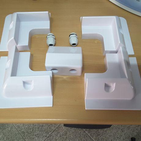 Kit Suportes PVC para fixar paineis solares a caravanas e autocarros