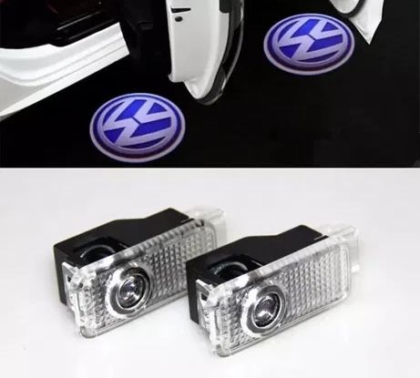 2 x Led projector logo porta carro VW - Novo