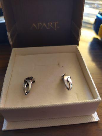 Kolczyki srebrne firmy Apart