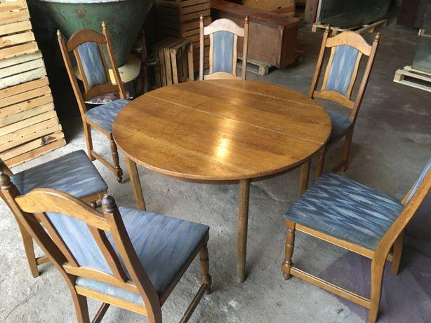 Stół z krzesłami Ludwik Retro