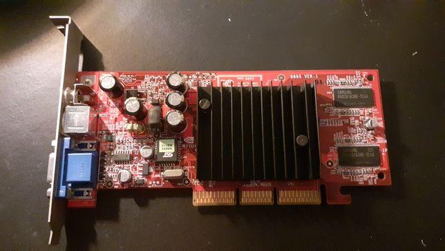 Placa gráfica AGP Nvidia Geforce 4 MX440 com 64 Mb