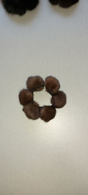 Норковая резинка для волос, норковый браслет на руку, подарок.
