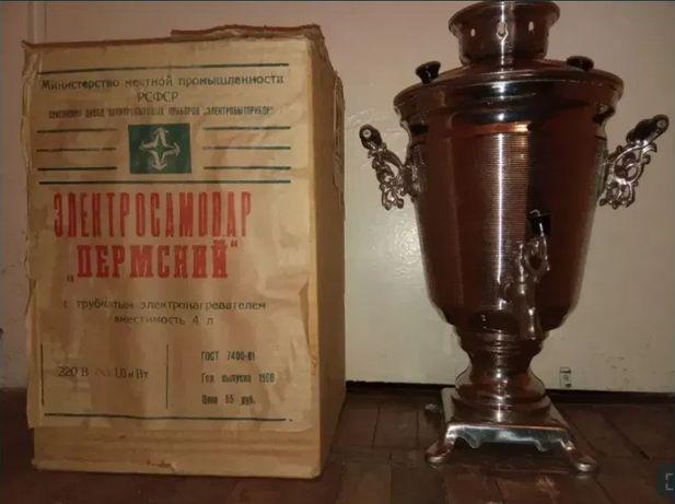 """НОВЫЙ электросамовар """"Пермский"""" 4 литра"""