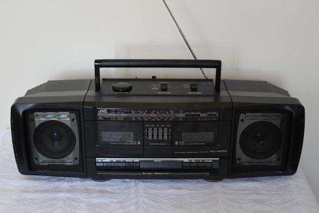 boombox JVC PC-W100 JAPAN 2 kasety radiomagnetofon glosniki odpinane