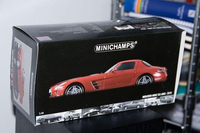 Mercedes SLS Amg 1/18 vermelho Minichamps