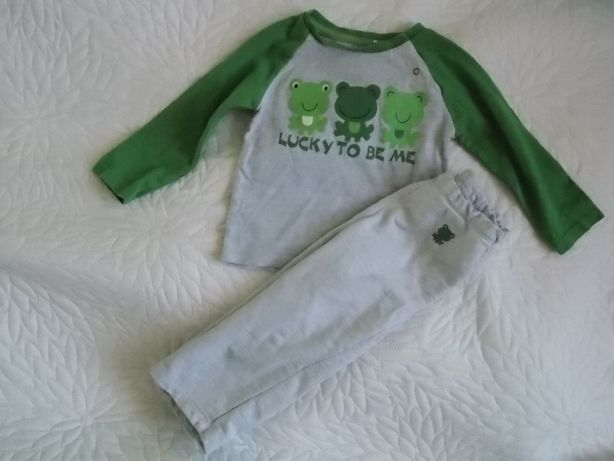 Komplet bluzka i spodnie dresowe 51015 rozm 80