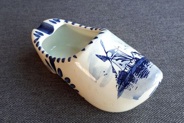 porcelana DELFT popielniczka DREWNIAK holandia
