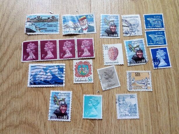 znaczki USA UK Irlandia Jugosławia Czechosłowacja x 20