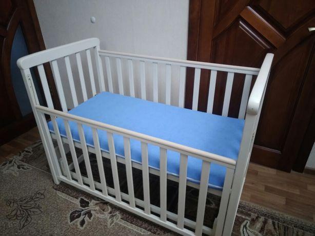 Детская кроватка качалка с матрасом Верес София