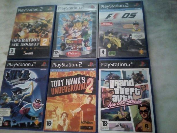 Conjunto de 6 Jogos PlayStation 2
