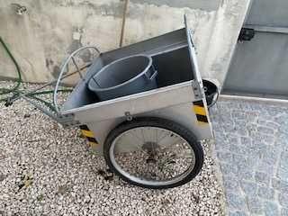 Atrelado para mota ou bicicleta em alumínio