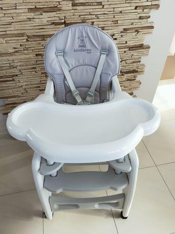 Krzesełko do karmienia Kindereo 5w1 szare