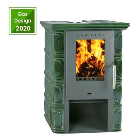 Piec kaflowy kominek koza Flama - ELDUR ECO 6 kW Olive