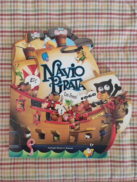 Navio Pirata   Livro Infantil