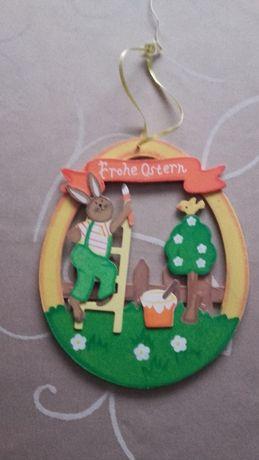 drewniana ozdoba do powieszenia, stroik, Wielkanoc