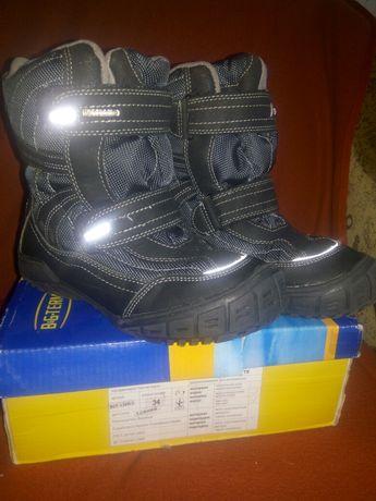 Термсапоги термо ботинки B&G 34 размер стелька 22 см