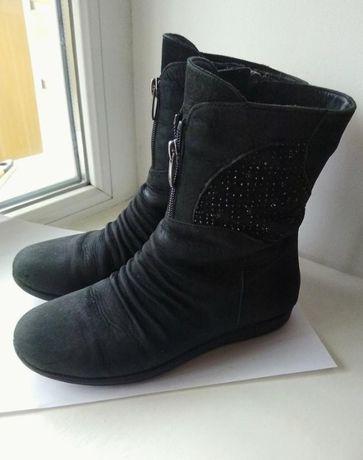 Ботинки замшевые полусапожки демисезонные для девочки Турция