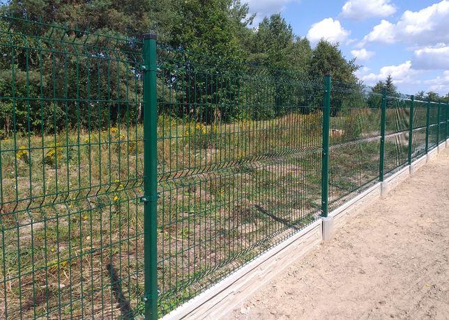 Panel ogrodzeniowy 133cm w zestawie z podmurówką i słupkiem