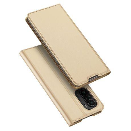 Capa Dux Ducis Skin Pro Bookcase Type Xiaomi Redmi K40 Pro+ / K40 Pro / K40 / Poco F3 Dourado
