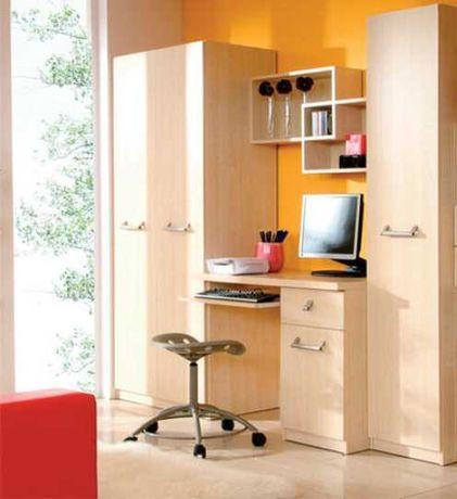 Komplet mebli BRW meblościanka biurko szafa Black Red White