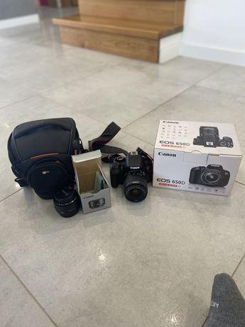 Canon EOS 650D + dwa obiektywy 18-55mm i 50mm