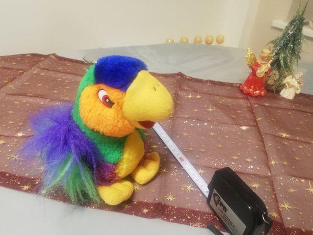 miś maskotka, papuga pluszak- stan bardzo dobry, prezent na Święta