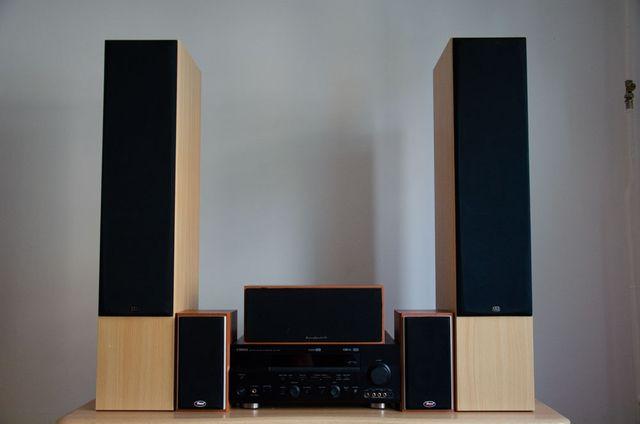Głośniki 5.1 + Amplituner i Odtwarzacz CD !!YAMAHA!! - KINO DOMOWE