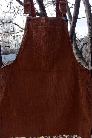 Молдова. Женский вельветовый коричневый комбинезон, платье George