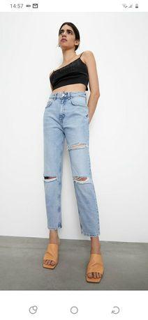 ZARA spodnie jeansowe w stylu mom fit 36 S