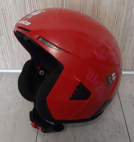 Kask narciarski dla dziecka Wedze czerwony