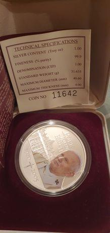 Монета с изображением папы Иоанна Павла 2