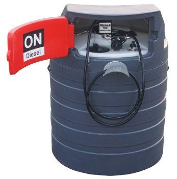 Zbiornik na paliwo dwupłaszczowy olej napędowy 1500L NOLEN MIDI