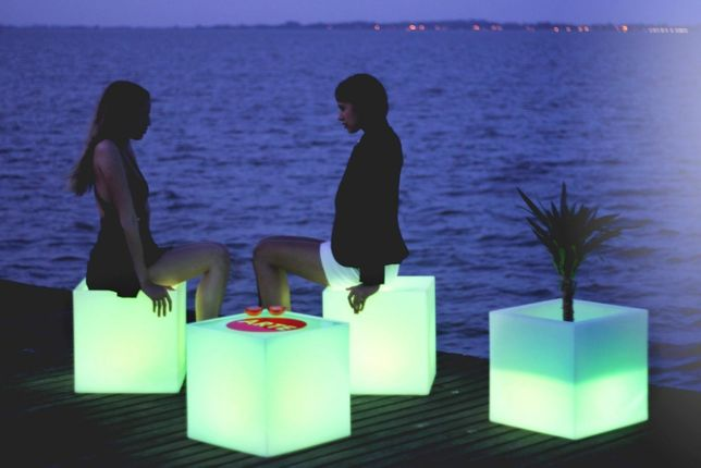 Cubo com luz Rgb decoração