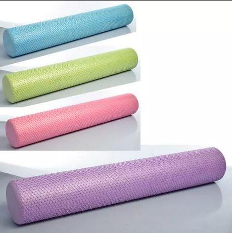 Фоам-роллер валик для спины, роллер массажный для йоги - 90 см 15 см
