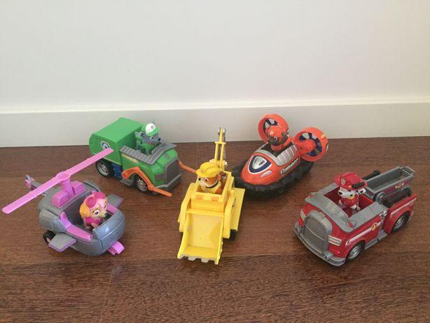 Patrulha Pata veículos com bonecos