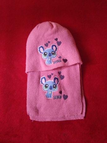 Czapka + szalik Littlest Pet Shop różowa