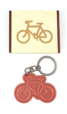 Brelok 3D rower zawieszka + drewniane pudełko