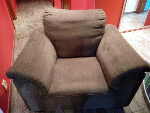 Fotel Tidafors Ikea szaro-brązowy
