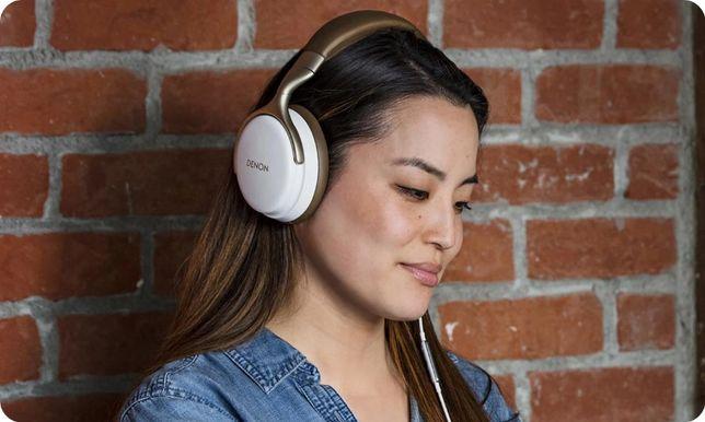Słuchawki dla audiofila DENON AH-D1200 białe śliczne